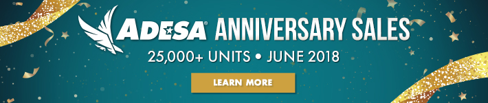 ADESA Anniversary Month - 25,000+ units - During June of 2018 - Click here to learn more