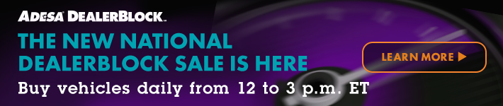 ADESA DealerBlock - The new national DealerBlock sale is here - Buy vehicles daily from 12 to 3 p.m. ET - Click here to learn more